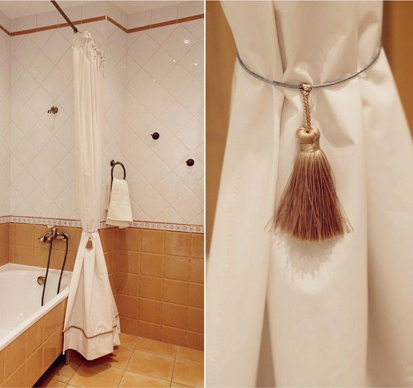 Vonios užuolaida 300cm su dekoru
