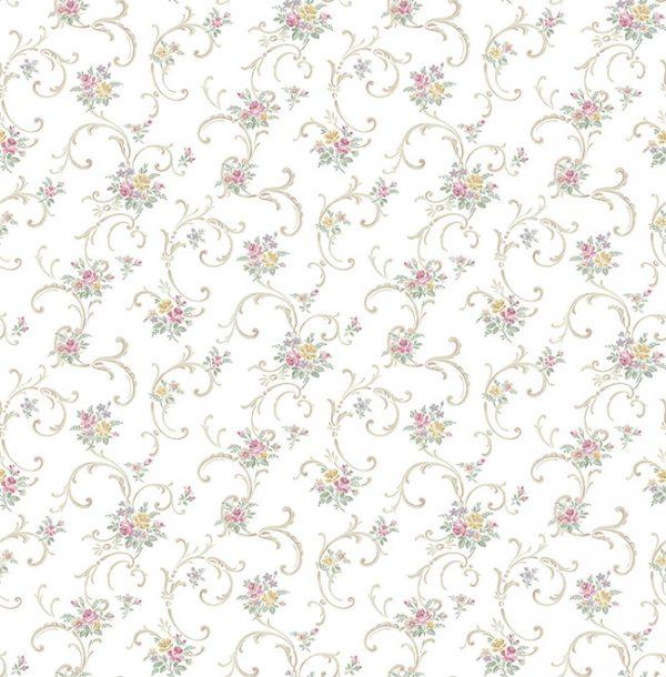 Smulkių gėlių tapetai FL90709