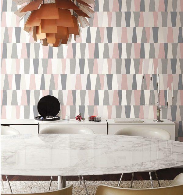 Geometriniai siuolaikiniai tapetai, tapetu rastai