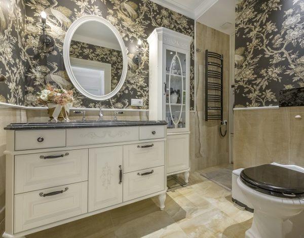 Klasikinio stiliaus vonios interejeras