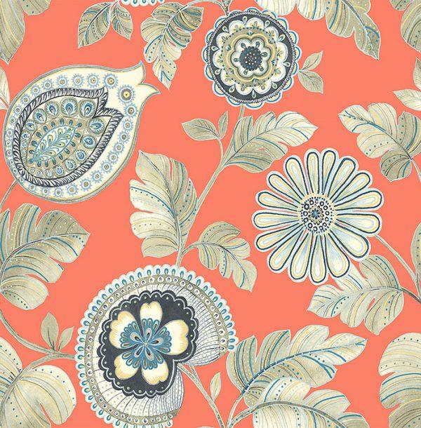 Ryškių spalvų tapetai RY31206