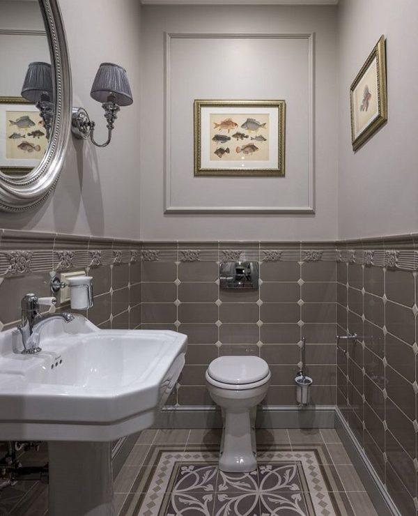 Mazas vonios tualeto kambarys Retro