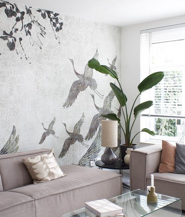Išskirtinis Fototapetas su paukščiais